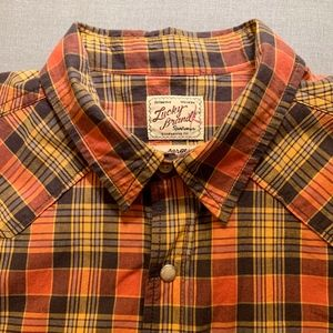 LUCKY BRAND Classic Western Men's Shirt Large NWT